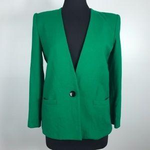Vintage Kasper Kelly Green Single Button Blazer